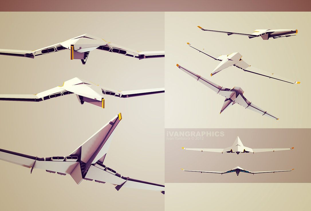 Sci-Fi Airplane by ivangraphics on DeviantArt