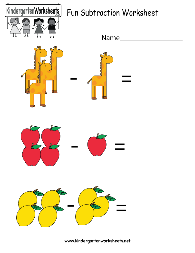This is a fun image subtraction worksheet for preschoolers or – Free Online Worksheets