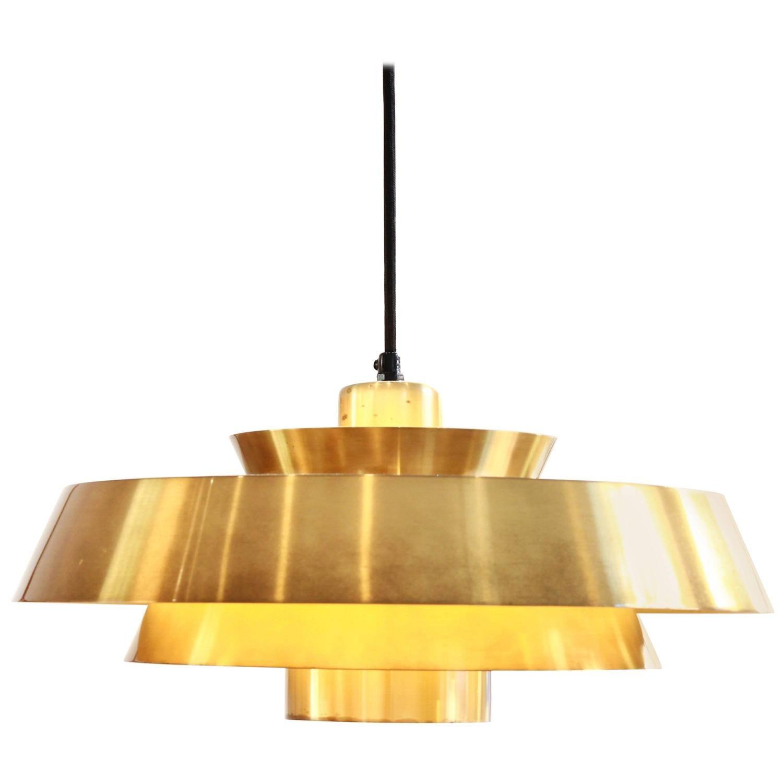Brass Nova Pendant by Jo Hammerborg for Fog u Mørup s Light