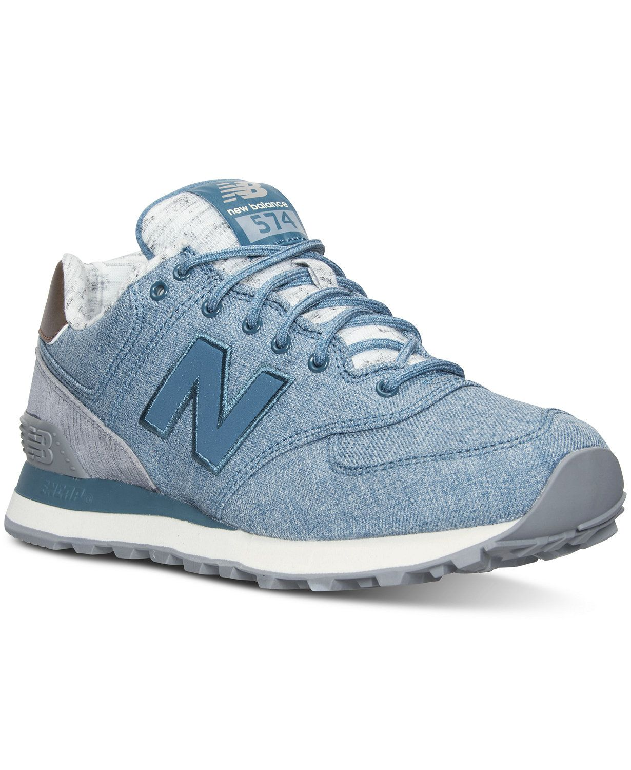 New Balance Women's 574 Heathered Casual Sneakers from