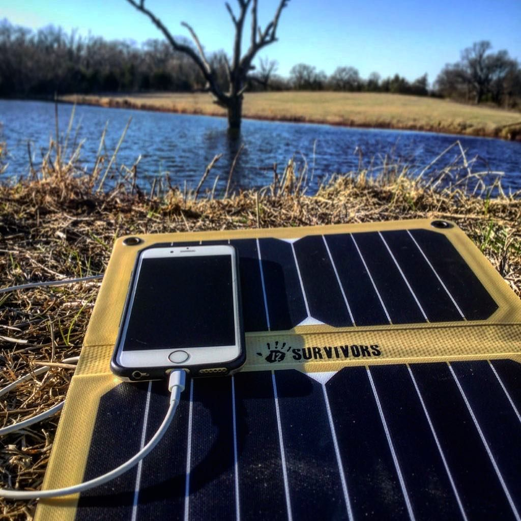 Unplugging From Technology Is Nice But It S Always Smart To Keep A Charged Phone In Case Of Emergency Keep Your Electronics At Ful Solar Power Solar Bushcraft