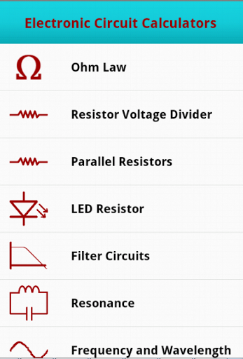 Droid Circuit Calc Free Is Great Tool For Electronics Student And Hobbyists It Helps And Makes It Lot Easier To D Voltage Divider Pic Microcontroller Ohms Law