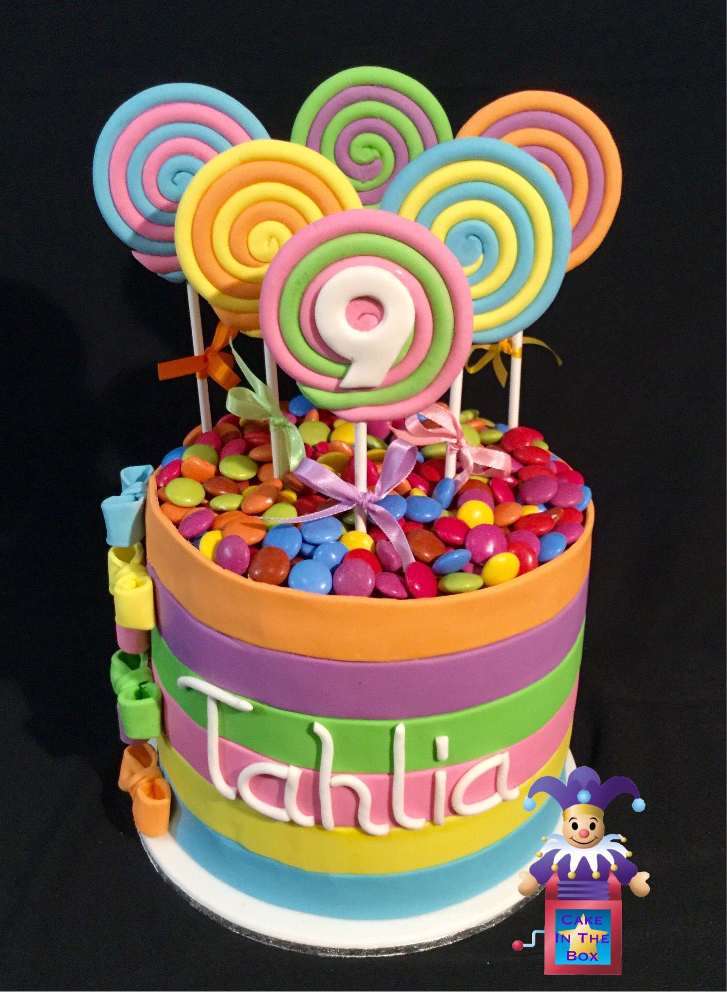 Lollipop Birthday Cake Aubryns Bday Pinterest Lollipop