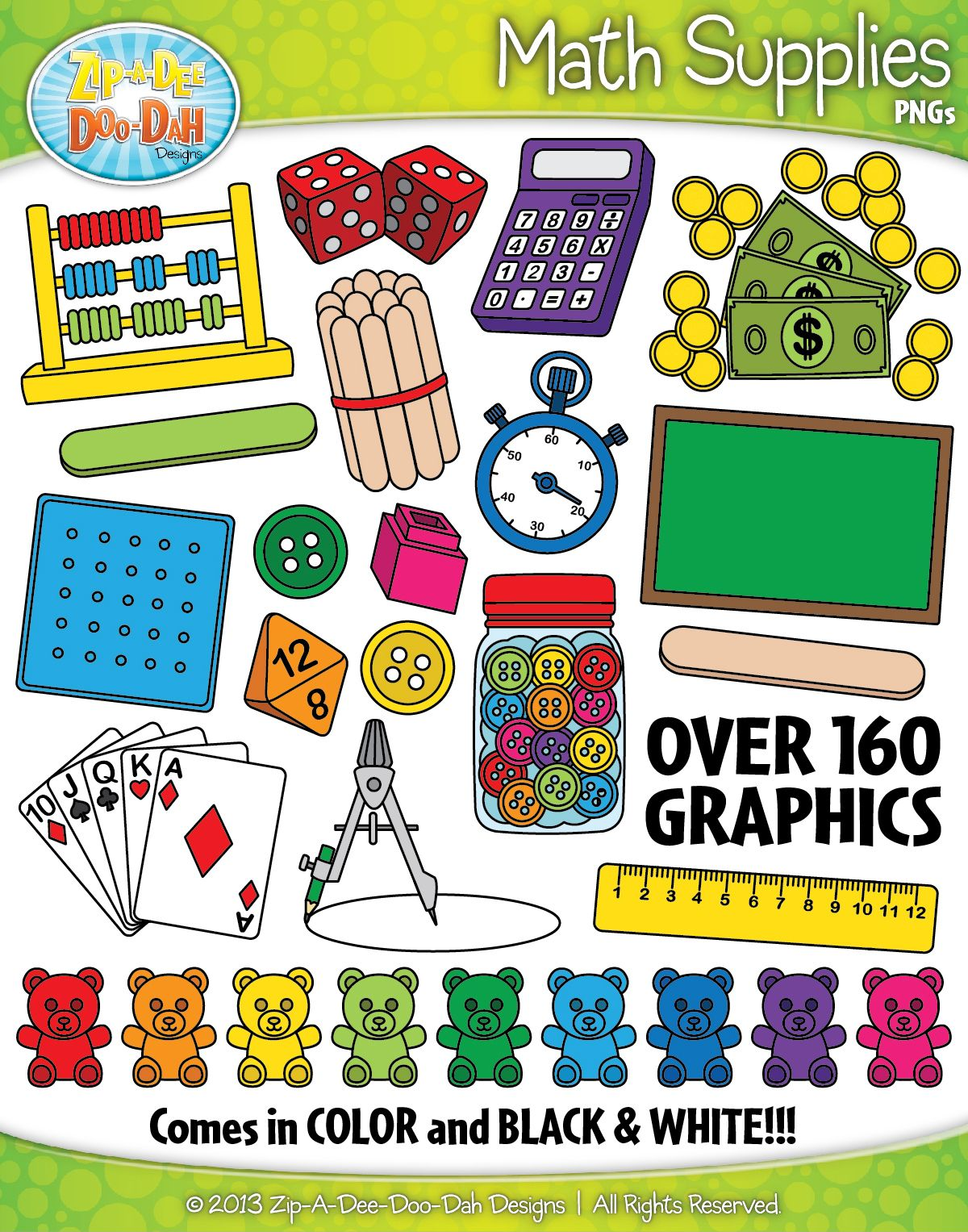 Math Supplies Clipart {Zip-A-Dee-Doo-Dah Designs} | My
