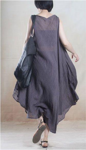"""Material: Linen One size: L L  Length  109cm/42.9"""" Bust  140cm/55.1"""" Shoulder  40cm/15.7"""""""