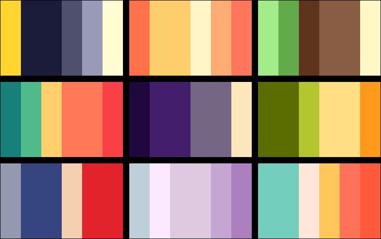 Colour Palettes One By Paperjax On Deviantart Colour Inspiration Color Palette Beautiful Colours Color Palette Color Color Swatches