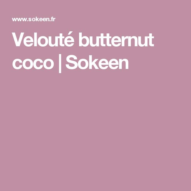 Velouté butternut coco | Sokeen
