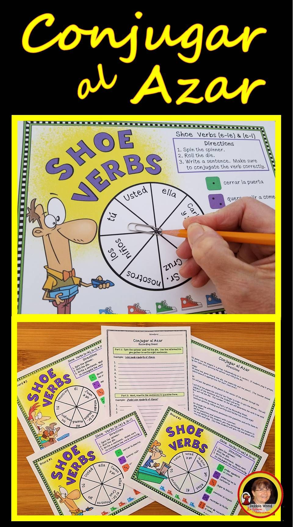 Students Will Have Fun Practicing Spanish Stem Changing Verbs With These Conjugation Boards Verbs Activities Spanish Lesson Plans Learning Spanish [ 1728 x 960 Pixel ]