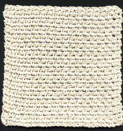 Five Textured Dishcloths- Dishcloth # 1