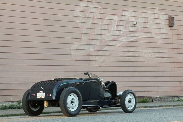 The decklid on Dave's roadster is stamped with seven rows of