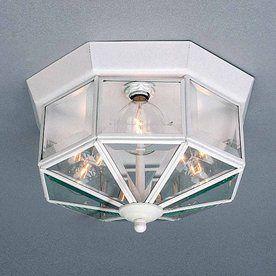 W White Ceiling Flush Mount Light
