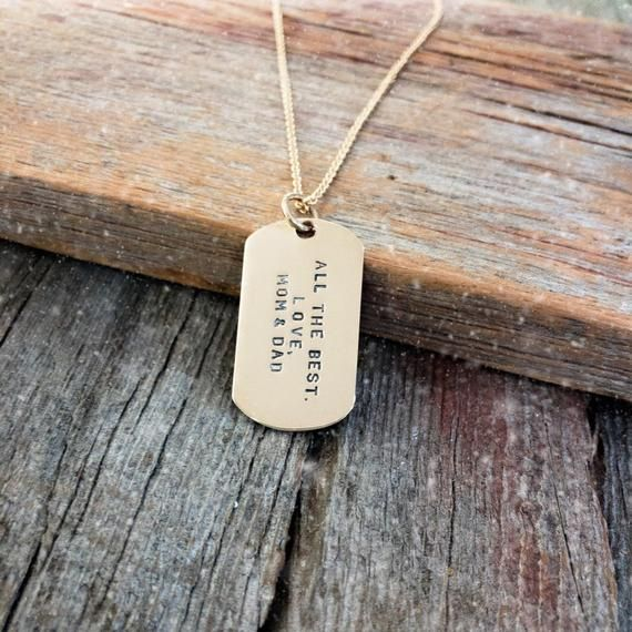 Personalised Engraved Photo ID Army Dog Tag Pendant Necklace Mothers Day Gift