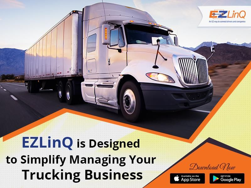 Use Your Smartphone To Manage Trucking Business Ezlinq Is The Only For