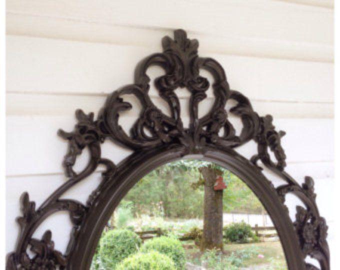 Baroque Mirror Oil Rubbed Bronze Bathroom Mirror Shabby Chic