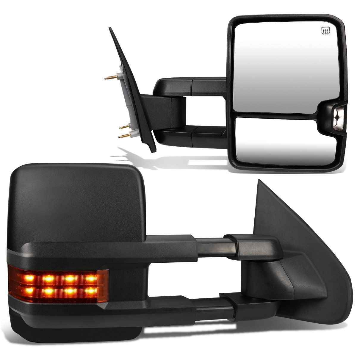 03-06 Chevy Silverado GMC Sierra Powered Towing Mirrors - w/Heated+LED Amber Signal