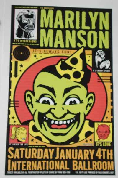 Marilyn Manson Poster Poster Art Rock Posters Cool Posters