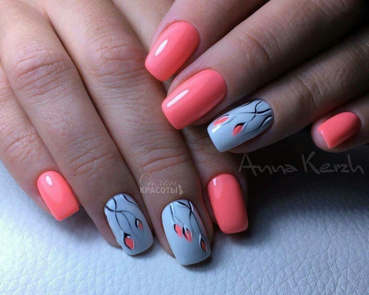 Simple Nail Art simple nail art flowers : Pin by Maria Gavrilova on Надо попробовать | Pinterest | Nail ...