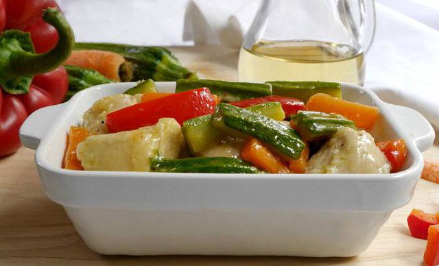 Blanc de poulet aux légumes WW