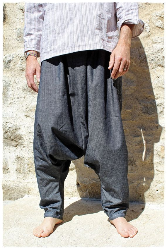 great deals top quality latest fashion Baggy Sarouel pour homme en denim noir par KhoutureDesigner ...