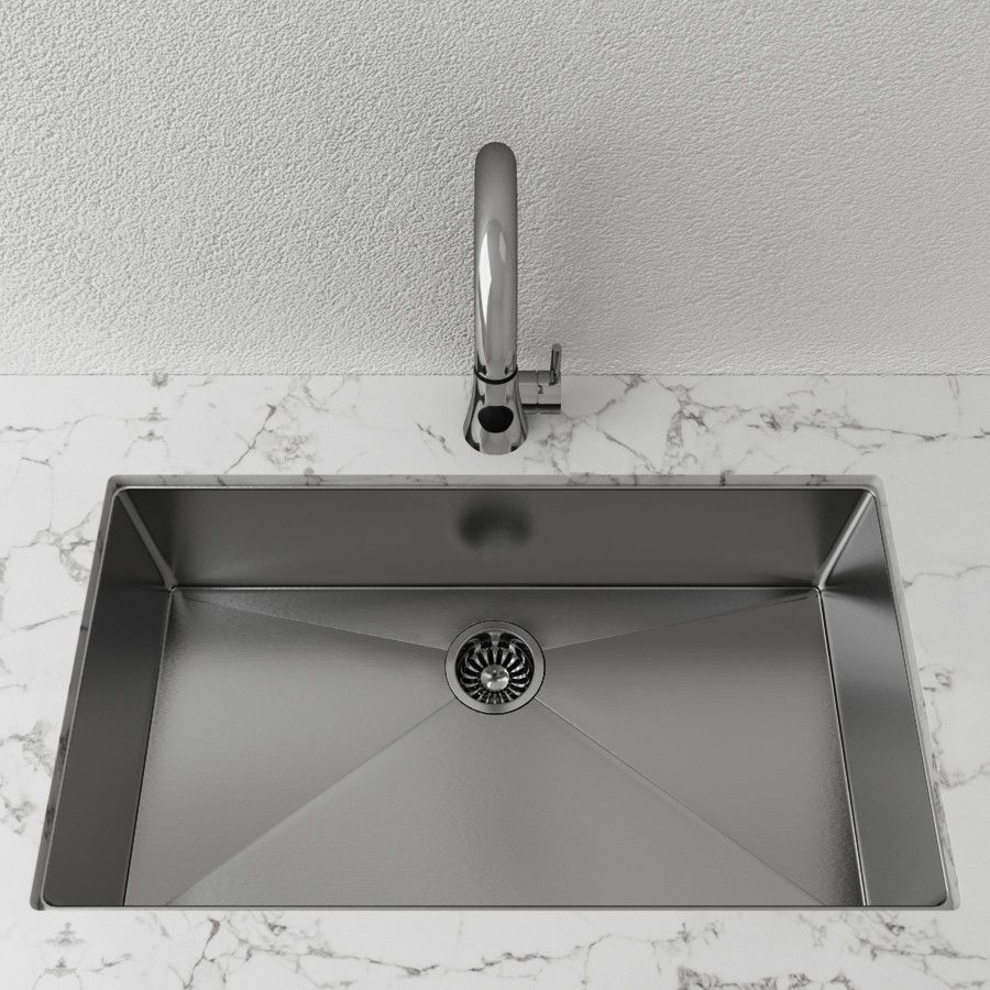 Cantrio Single Bowl 32 Sink Undermount Stainless Steel
