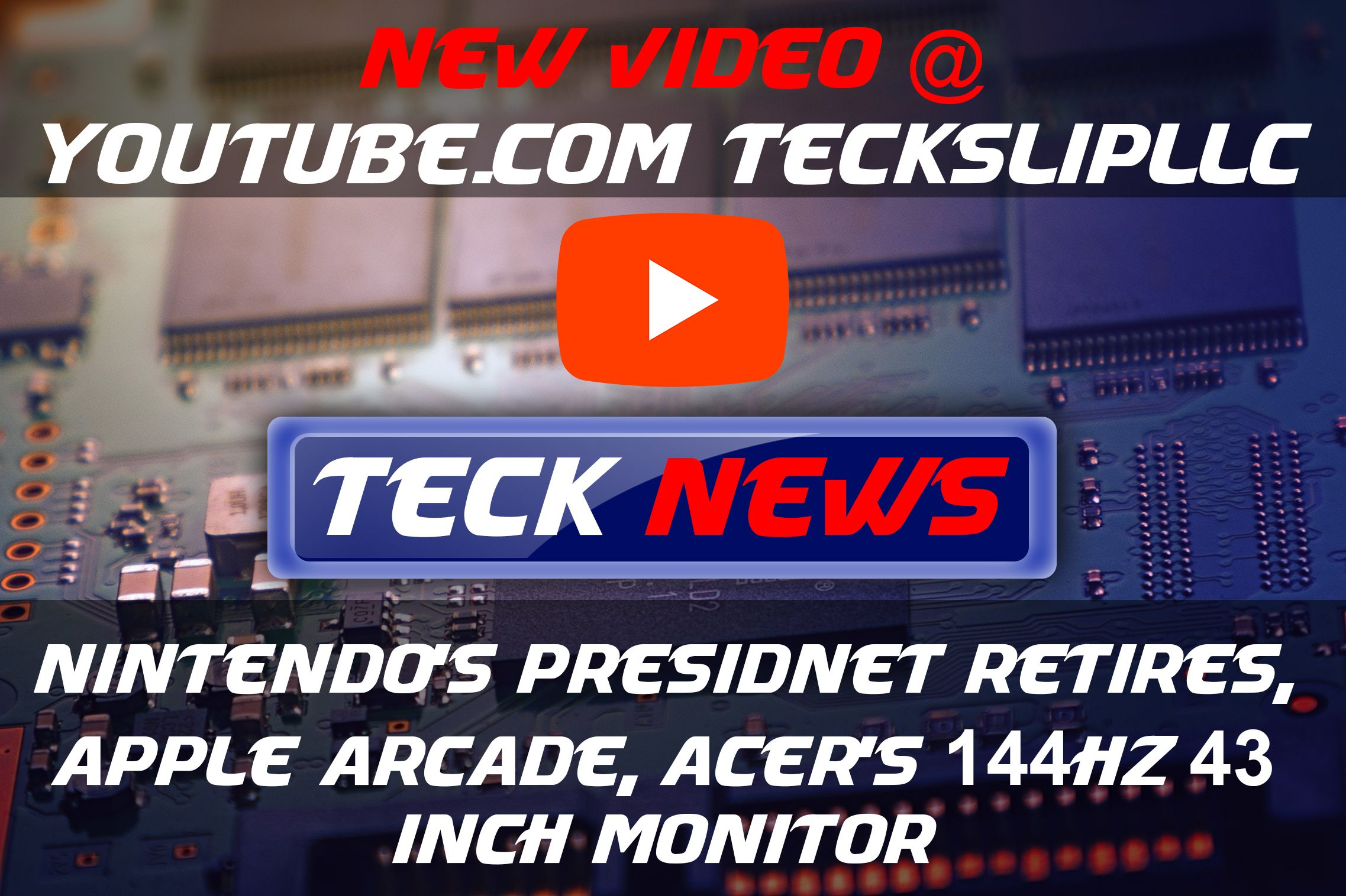 Checkout our newest Tech News Video on Youtube! Short sweet and to