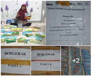 TBM Iqro Lempake Donasi Bahan Pustaka Tali Integritas