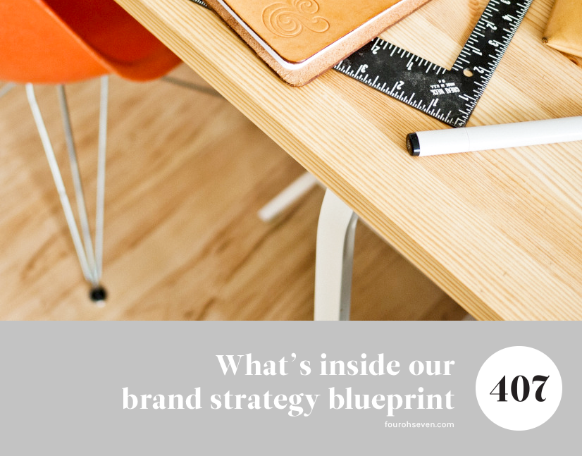 What's inside our brand strategy blueprint — Four Oh Seven