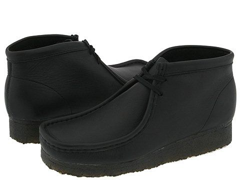 29fafeaa49633 Clarks Wallabee Boot Black Leather - Zappos.com Free Shipping BOTH Ways