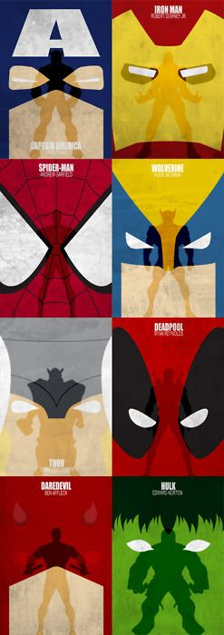 designersof:  Marvel Movies - by Melissa Jallit Marvel movie concept posters designed on Adobe Illustrator and Photoshop CS5