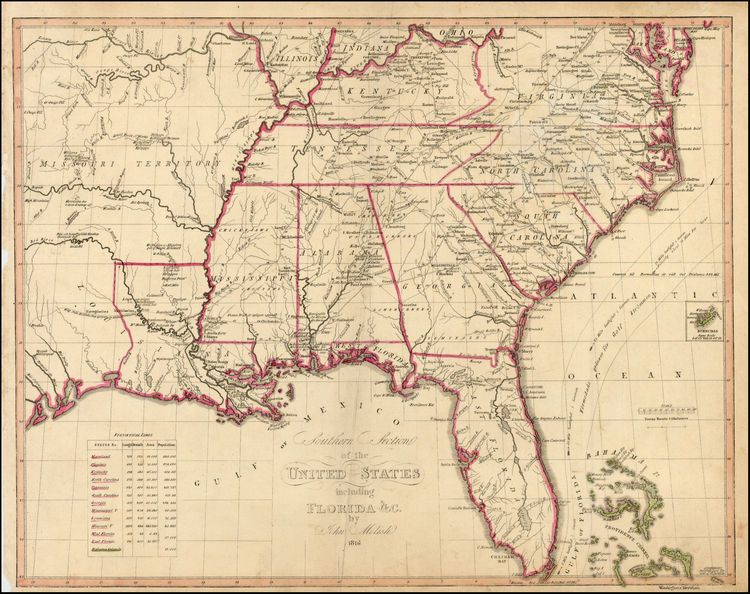 Southern Section of the United States including Florida c by