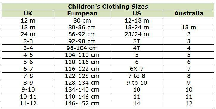 Kids size chart clothes sizes conversion charts remember all are guidelines only also shop abroad with these clothing promo rh pinterest