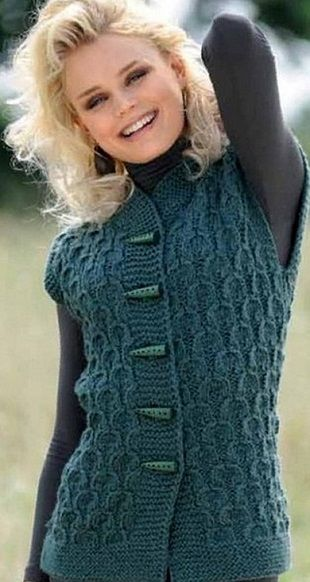 4716146_jil_rel (310x582, 69KB) | Crochet vests | Pinterest | Damas ...