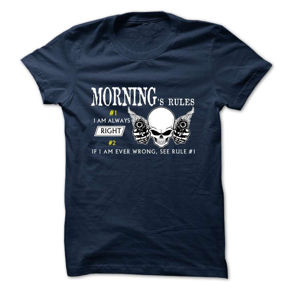 funny MORNING Rule Team T-Shirts, Hoodies. GET IT ==► https://www.sunfrog.com/Valentines/funny-MORNING-Rule-Team.html?id=41382