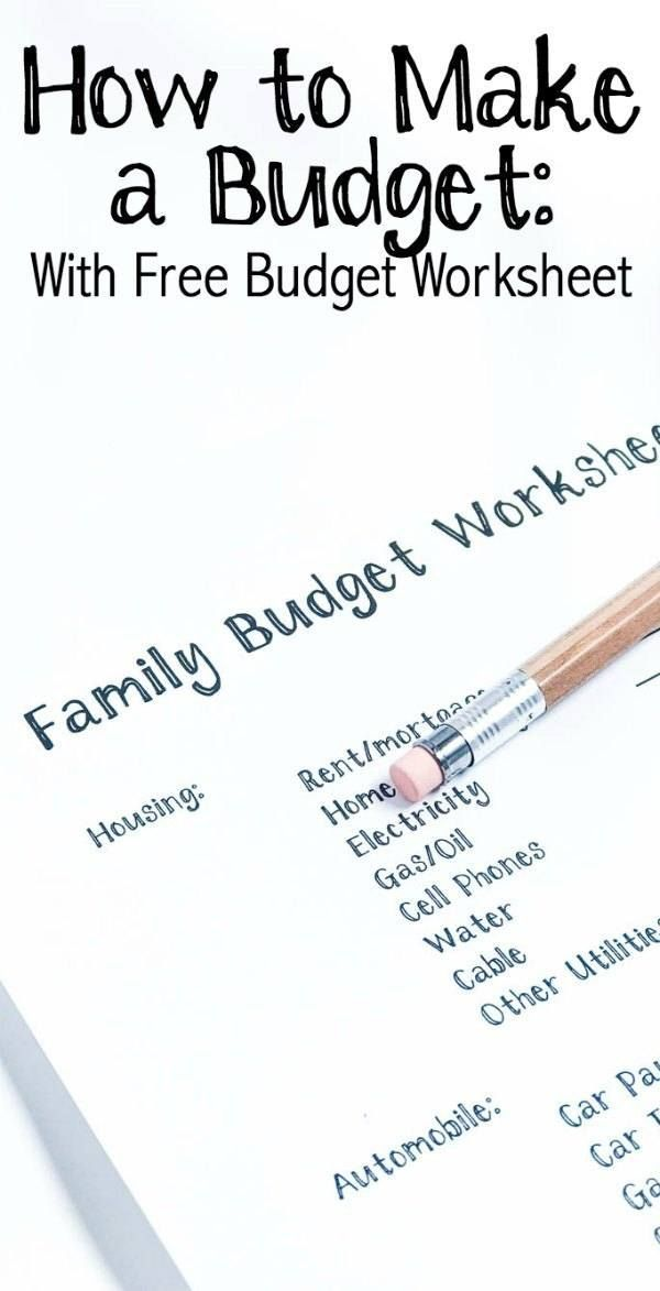 How To Make A Budget Free Budget Worksheet Worksheets Budgeting
