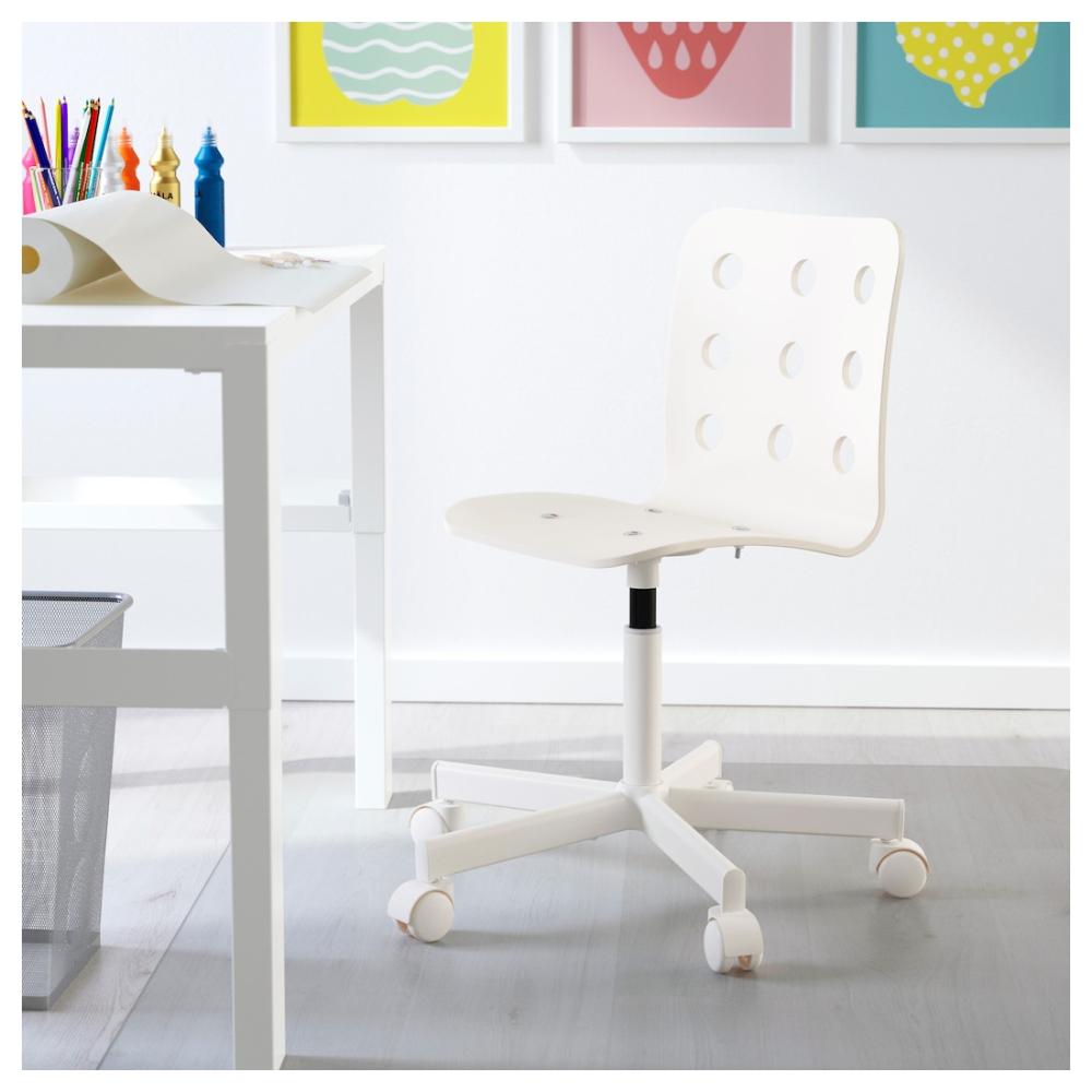 jules chaise de bureau enfant blanc