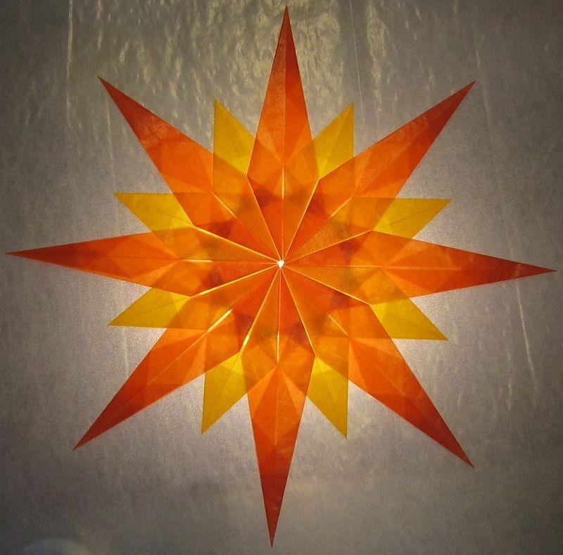 orange gelber stern bastelkram pinterest papier origami et noel. Black Bedroom Furniture Sets. Home Design Ideas