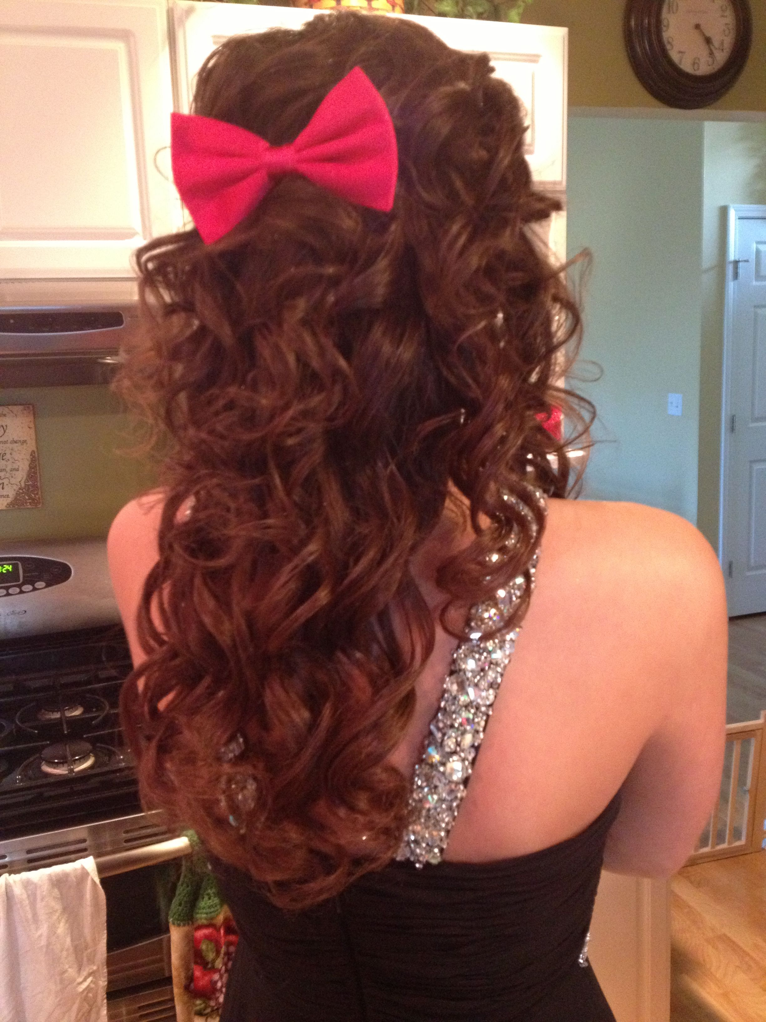 Bow in hair accessories pinterest hair style dance hair and