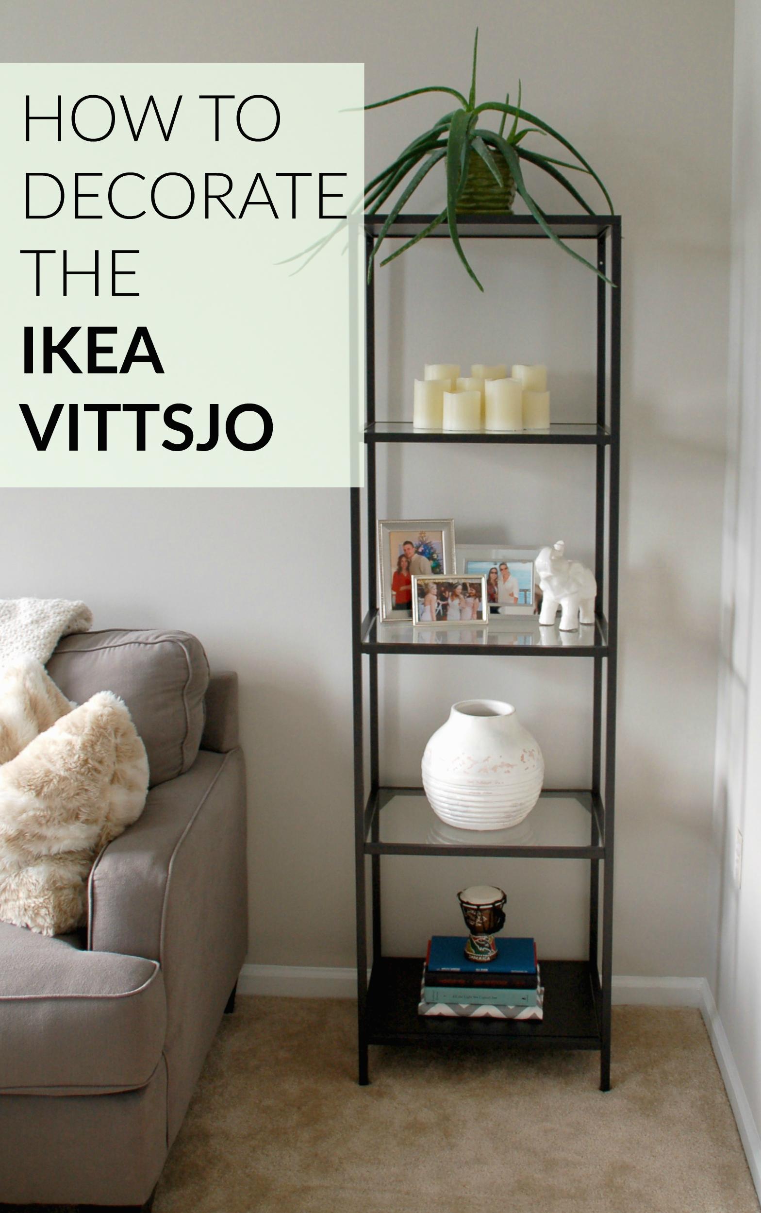 How To Decorate The Ikea Vittsjo Shelf Unit Decorating And  # Meuble Ikea Vittsjo