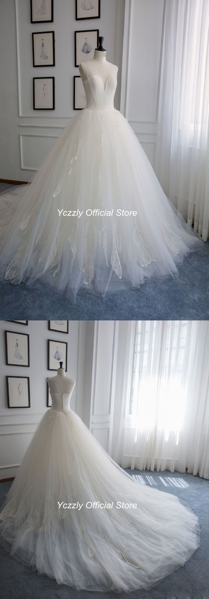 ball gown wedding dress#puffy wedding dress#princess wedding dress#v ...