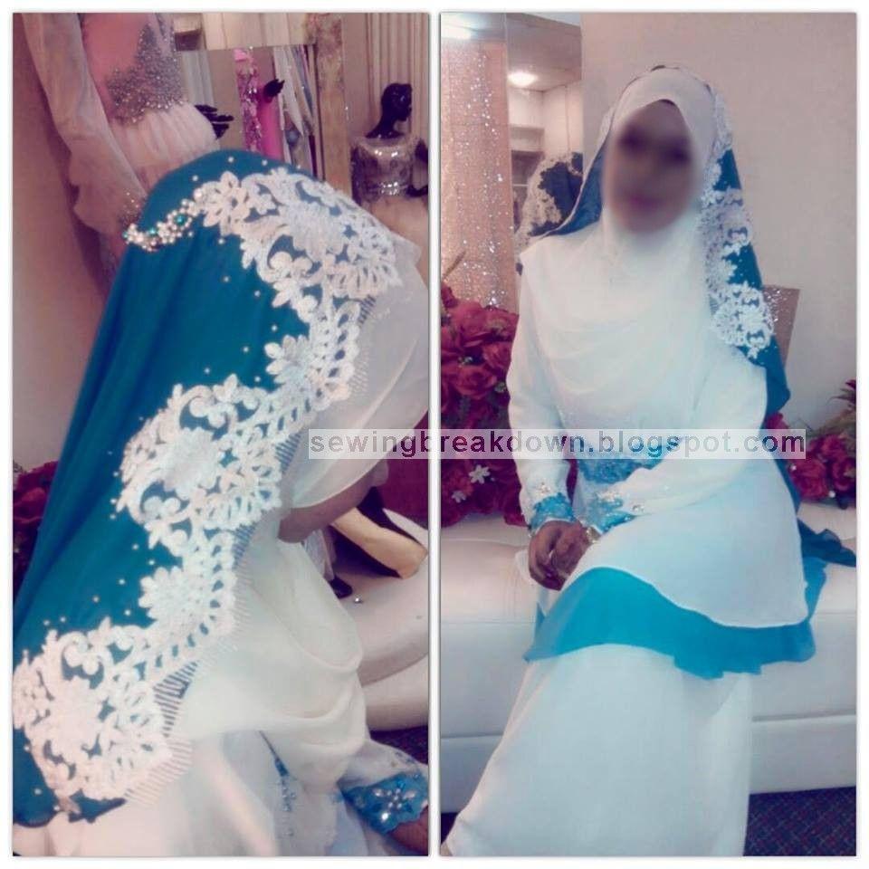 خياطة و تفصيل كيفية خياطة طرحة العروس المحجبة Veil Brides Bride Sewing