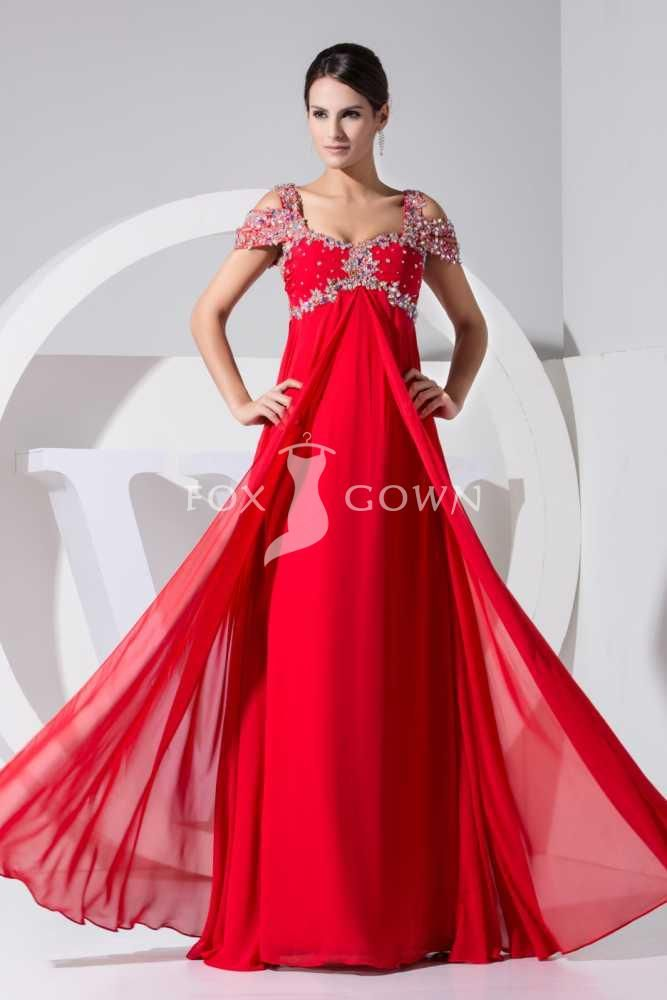 red evening gown with sleeves | Gommap Blog