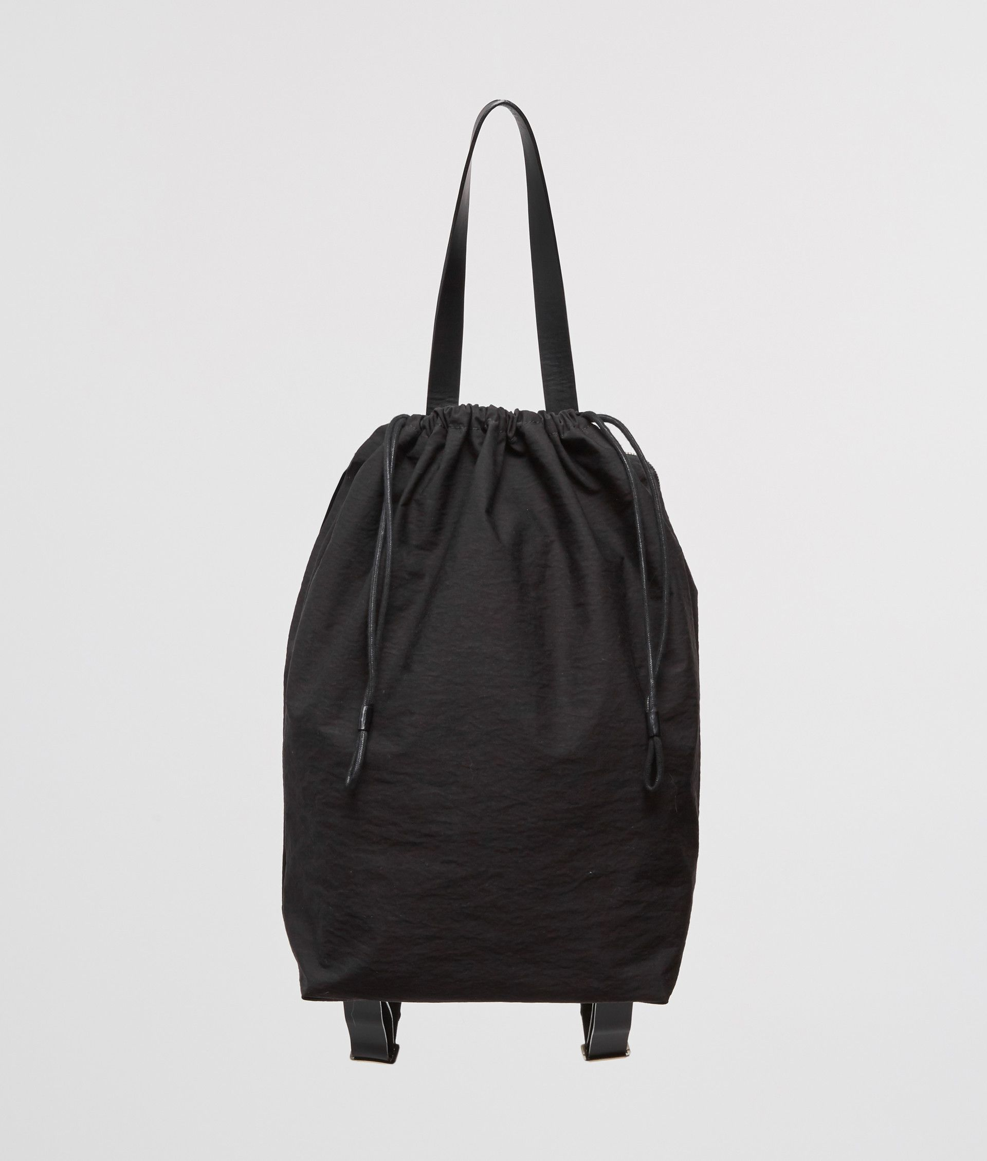 Building Block Draw Backpack In Black