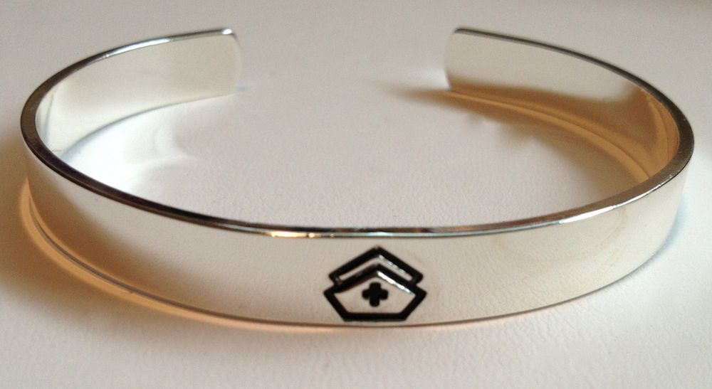 NURSING BRACELET Gift Graduation Nurse Nurses RN LPN Silver Cap Hat USA Seller #Jewelry #Deal #Fashion