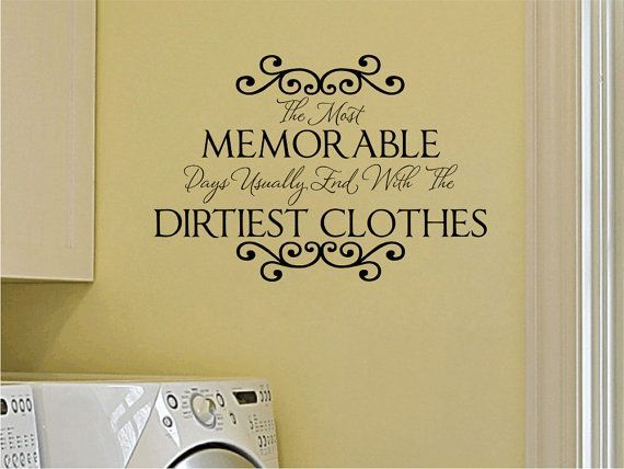 Laundry Room Vinyl Wall Quotes Alluring Laundry Room Vinyl Wall Decal Memorable Days Wall Quote Saying Decorating Inspiration