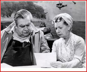 Stan and Hilda Ogden (Bernard Youens and Jean Alexander)  Two of my favorite characters in the early years of the British soap opera Coronation Street