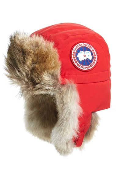 9e1c1d2ab7b Hats for Women. Canada Goose Aviator Hat with Genuine Coyote Fur Trim  available at  Nordstrom