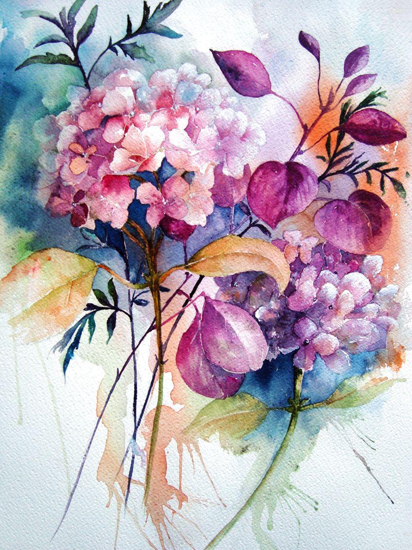 Цветы акварелью в картинках