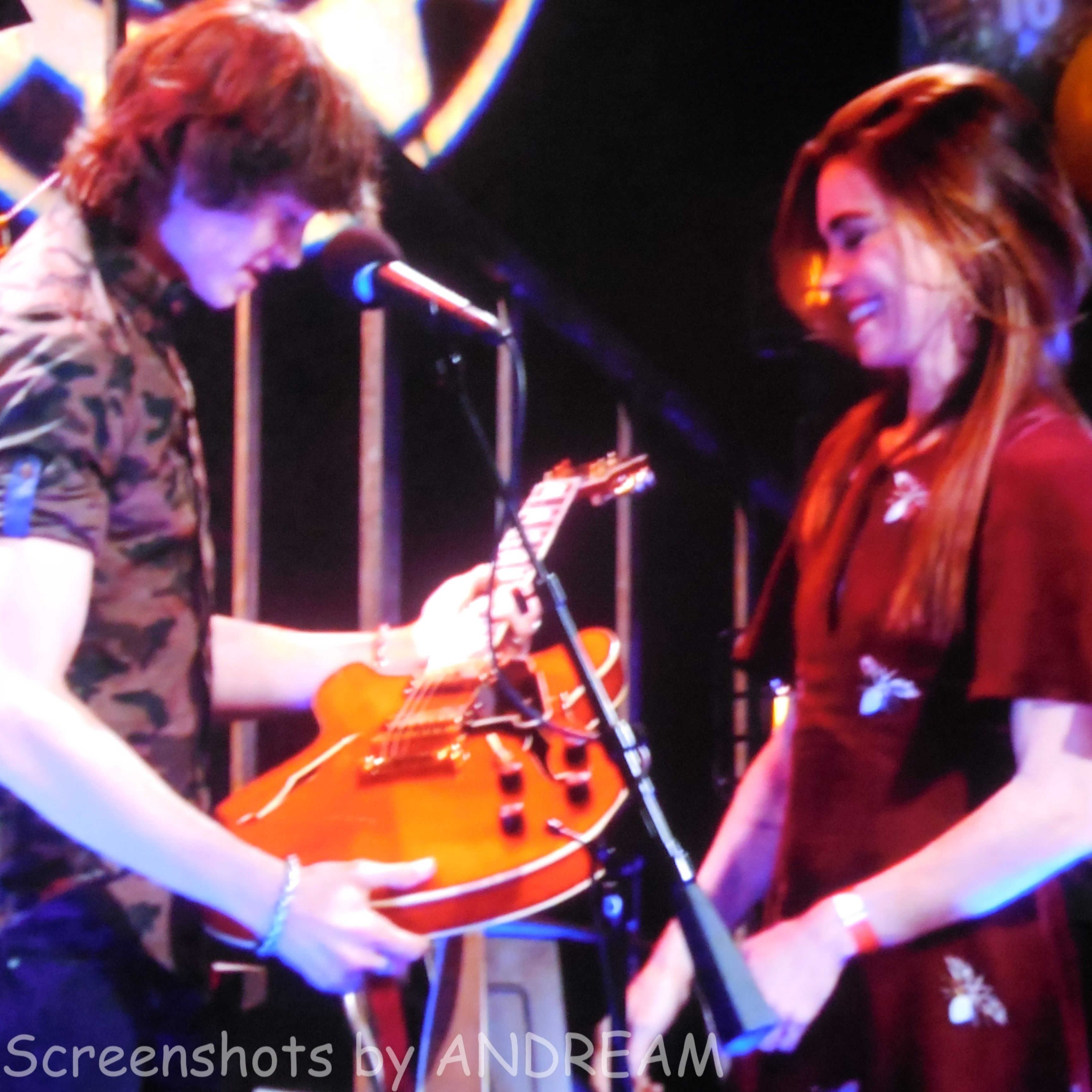 Victoria presents Reed with a new guitar for his birthday!  Reed exclaims it's the exact one he wanted!