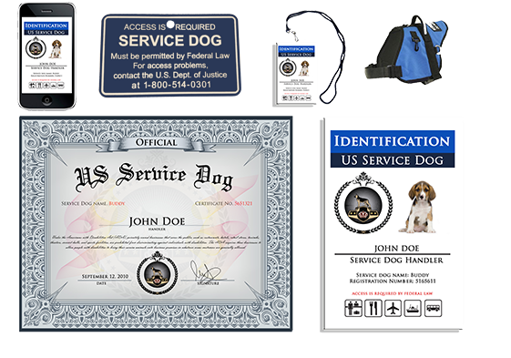 US Dog Registry Service Dog Registration and Supplies