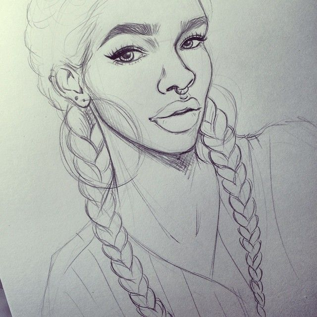 Sketches Natural Hair Black Girls